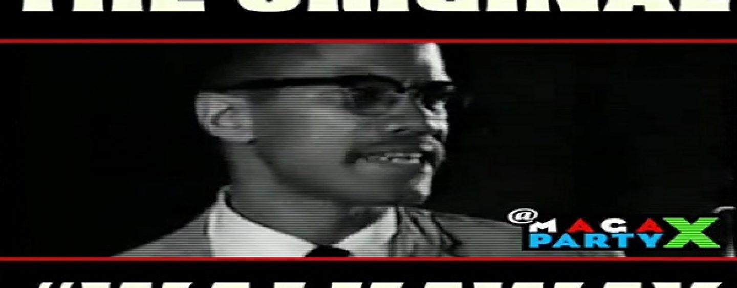 Malcolm X Says Take Your D And Go Home! How The Democrats Have #Brainwashed The American Kneegrow! (Video)