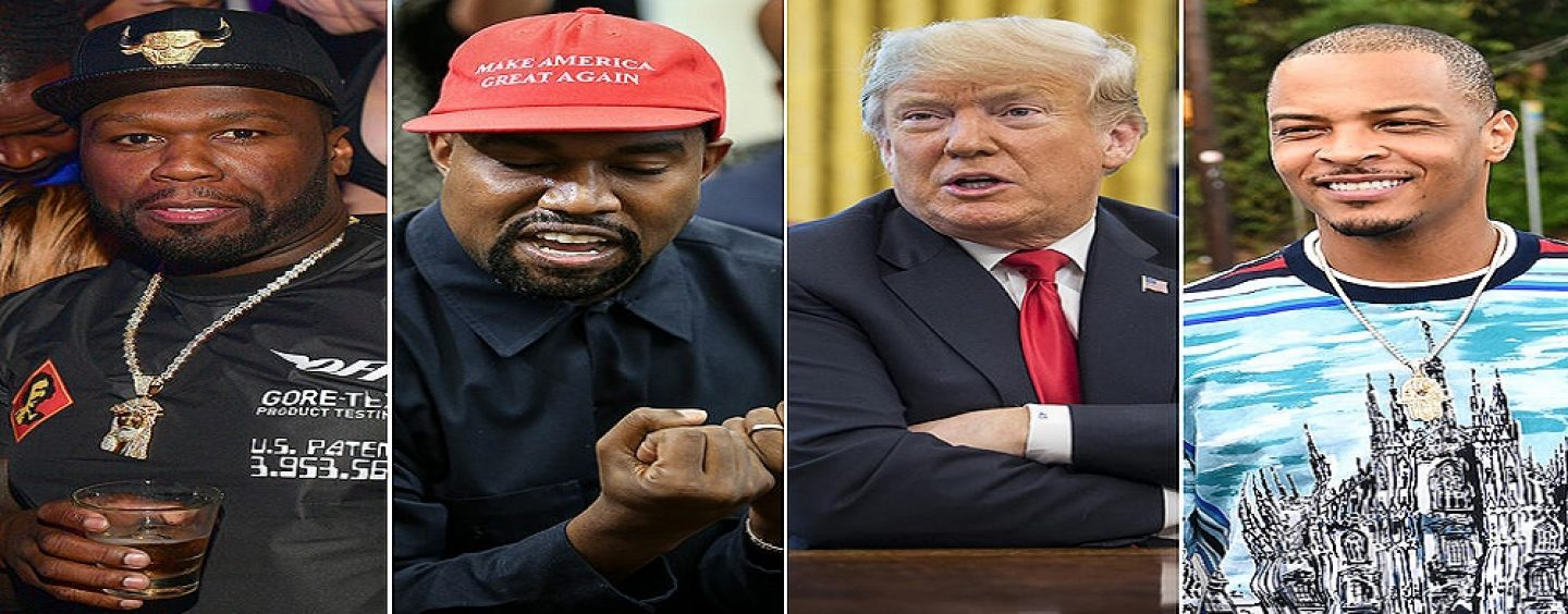 T.I., 50 Cent, Quest Love, Michael Rapaport & Other Celebs Express Their Anger For Kanye West Meeting President Trump Today! (Live Broadcast)