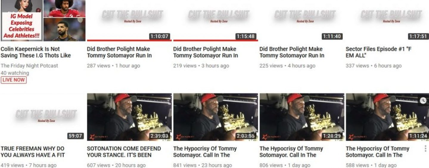 Can Someone Explain Why The Canadian ExSoto NutHugger Now Cant Leave Tommy Sotomayor Alone? (Live Broadcast)
