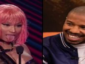 Rapper Nicki Minaj Continues Whorish Public Behavior of Black Woman By Lusting After Micheal B Jordan!