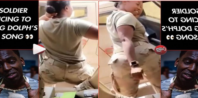 Black Female Soldier Twerks To Vulgar Song In Uniform Yet There Is No Outcry But Kneeling Causes People To Be Fired? (Live Video)