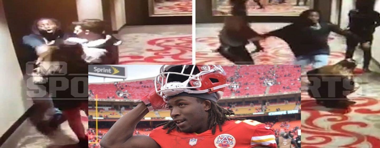NFL Star Kareem Hunt, Fired By Team After Video Shows Him Kicking & Shoving Drunk White Slwore! (Live Broadcast)