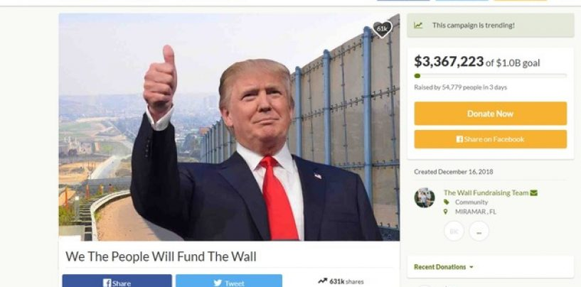 Us Citizens Donate Over 8 Million Dollars In 3 Days To Help Donald Trump Build A Wall! Lets Discuss! (Live Broadcast)
