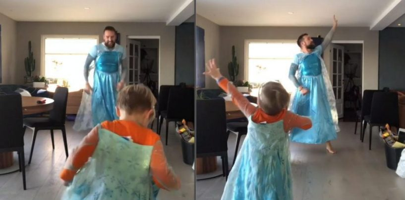 TommysTake #1 America Praises Dad For Dancing Around In Frozen Dresses With His Son Because Son Says ELSA IS A SUPERHERO? But Is This Wrong? (Video)