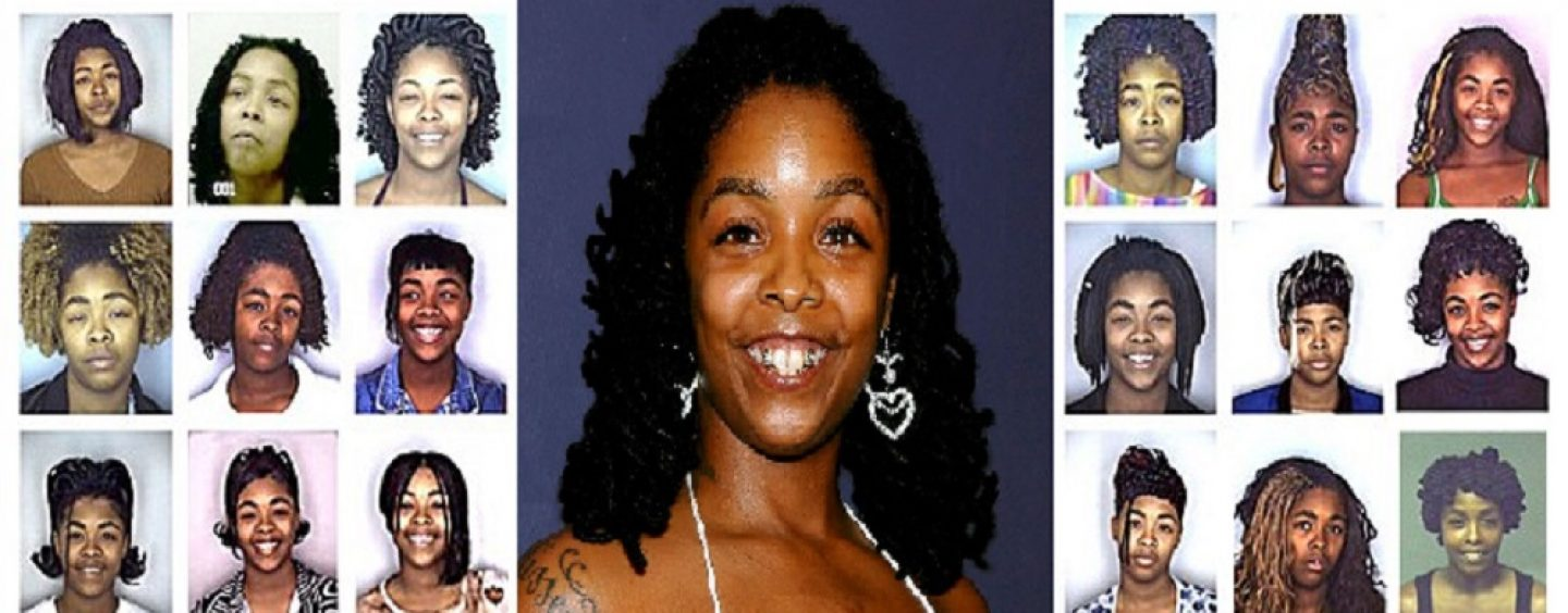 Black SharkMouthed Rapper Brags About Her Many Arrest By Making Her 20 Mug Shot Photos Her Album Cover! (Photos)