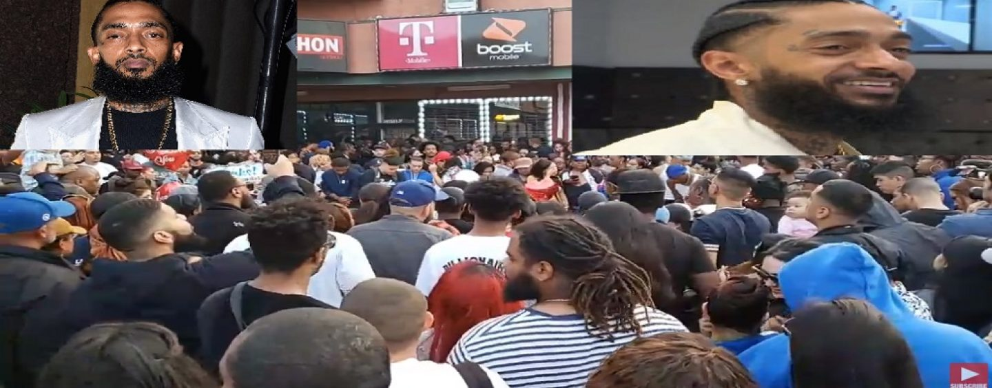 Live Tribute To Nipsey Hustle From Crenshaw CA, Massive Outpouring Of Live From Neighborhood! (Live Broadcast)