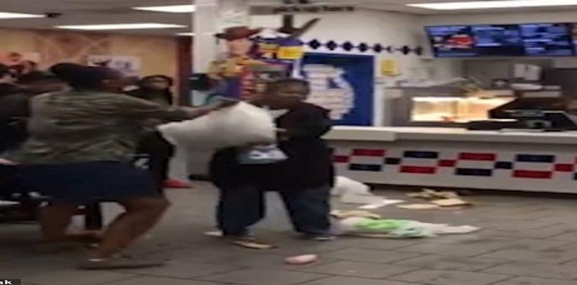 Black B*tch Destroys McDonalds & Assaults Employee Over McFlurry Machine Being Down! (Video) #iShitUNot