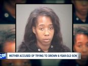 Black Woman Charged With Sending Video Of Her Trying To Drown 6 year Old Son & Sending The Video To Child's Father! (Video)