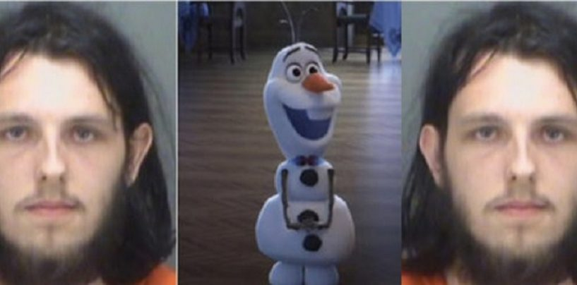 White Man Arrested For Having Sex With Olaf Doll From The Movie Frozen In Target Store! (Video)