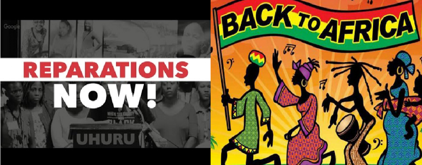 Should Blacks Be Asking For Reparations In America Or Relocation Back To Africa? Join The Convo, Click The Link! (Live Broadcast)