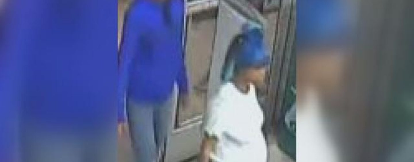 Blue Haired BT B*tch Burglarizing Businesses While This Broads Belly Is Big As A Beach ball! (Video)