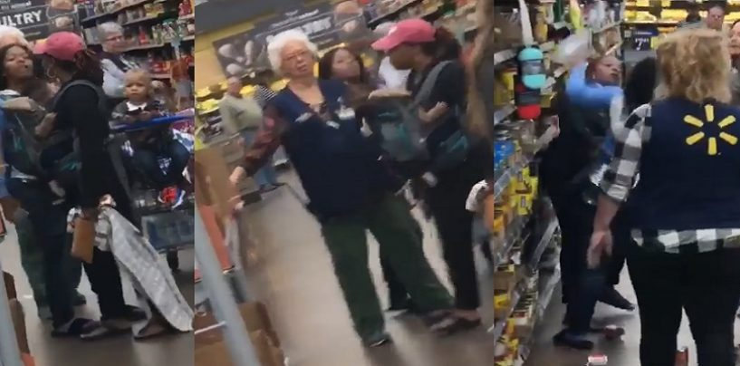 Two Mothers Start Fighting While Having Their Infants Strapped To Their Chest! (Video)