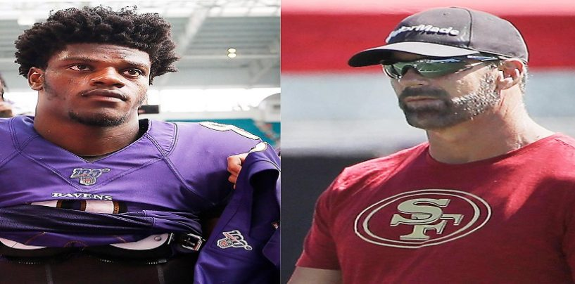 SF 49ers Radio Analyst, Tim Ryan, Suspended For Saying Black Ravens QB, Lamar Jackson's Dark Skin Gives Him An Advantage! (Video)