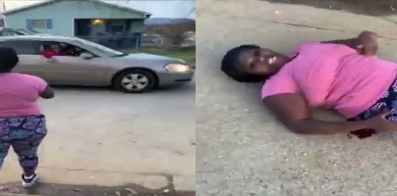 Woman Shot 3 Times Live On Facebook, Yet Still Throws Up Gang Sings While Bleeding On The Ground! (Video)