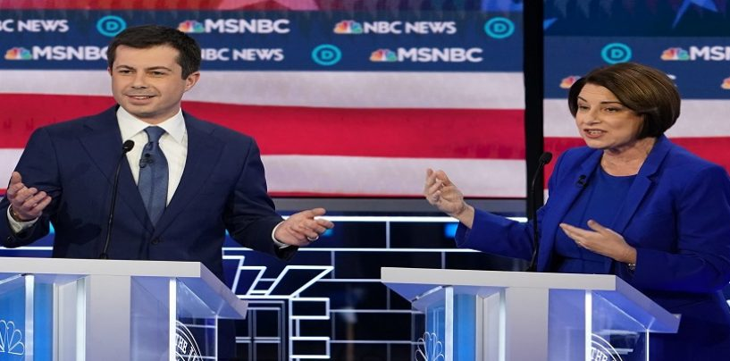 Presidential Hopeful Amy Klobuchar Roasted By Pete Buttigieg & Starts Crying During The Debates! (Live Broadcast)