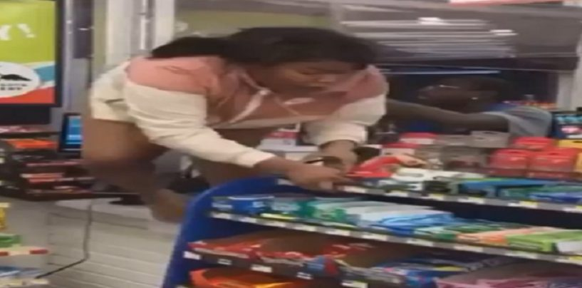 2 Broke Black Hoes Fight At Gas Station Because Ones Boyfriend Got Them Both Pregnant! (Video)