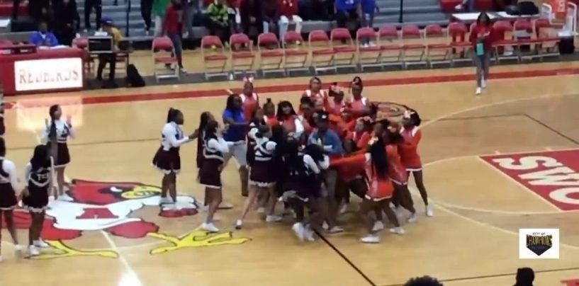 Black Cheerleading Teams Decide To Fight Mid Court As Their Hood Rat Dance Off Gets Heated! (Video)