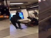 Crazed Harlem Man Kicks Female Cop Onto Subway Tracks Proving Most Women Should Not Be Cops! (Video)