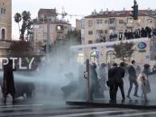 Israeli Police Spray Water Cannon In What Seems To Be A Funny But Peaceful Protest! (Video)