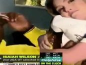 Isaiah Wilson's Mom Shoved His White Girlfriend Off Of Lap But Would Be Be Ok If A White Woman Did It To A Black Woman? (Video)