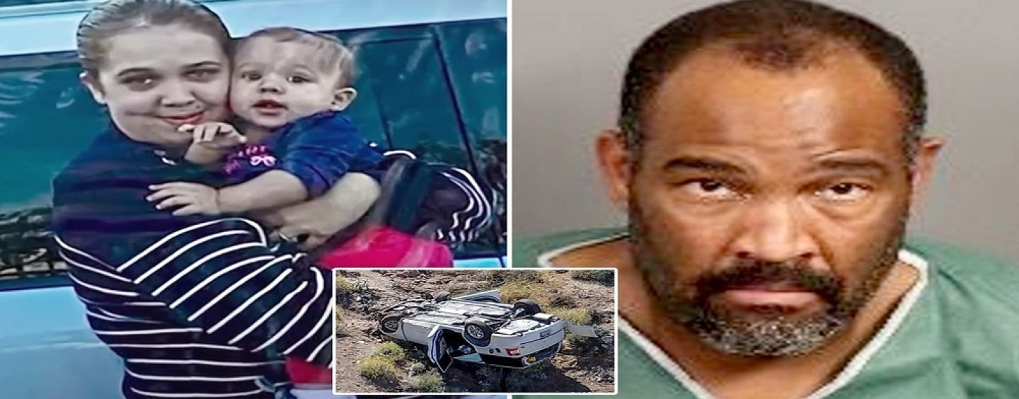 Black Man Kills His Own Child, 1, By Throwing Her Off A Cliff After Stabbing Pregnant White Wife In Church Parking Lot! (Video)