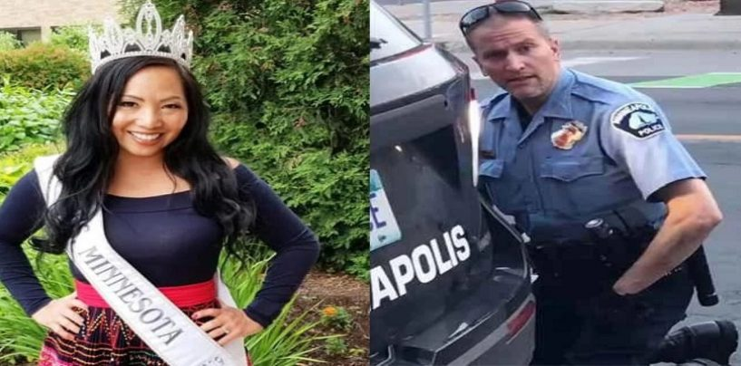 Cop Who MURDERED George Floyd Has Been Served Divorce Papers From His Beauty Queen Wife Immediately After His Arrest! (Video)