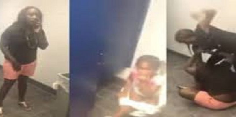 Woman Tries To Kidnap Small Child From Public Restroom In Front Of Child's Mom! (Video)
