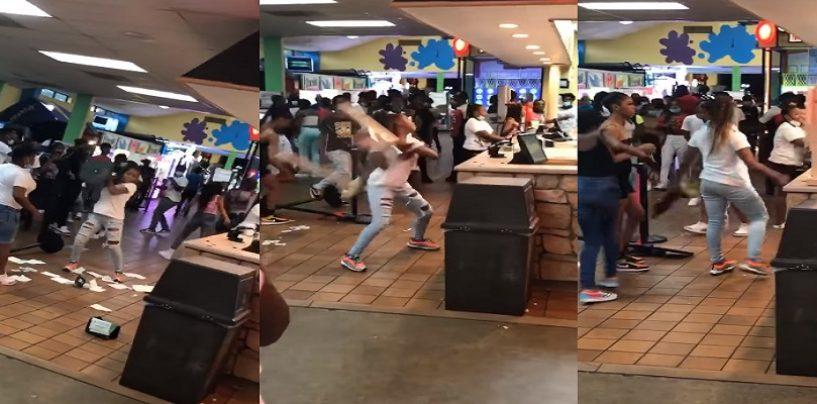 Hundreds Of Out Of Control, Unruly & Violent Black Female Teens Destroy Put-Put Golf Center In Memphis Over Refunds! (Live Broadcast)
