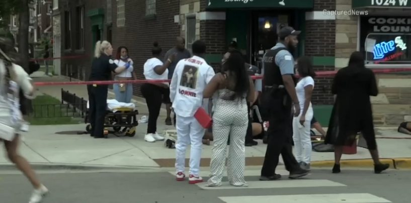 16+ People Shot In A Gang Retaliation In Chicago At A Funeral Home In Broad Daylight! (Video)