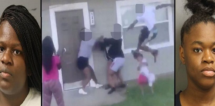 2 Hard Faced Hoes & A Lego Maniac Beat Up A Pregnant Woman & Her 4 Year Old Child On Video! (Video)
