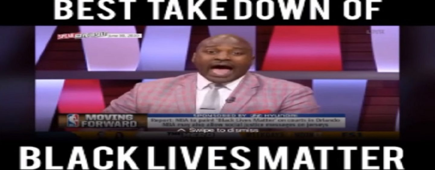 Dat Dude, Marcellus Wiley, Explains Why The NBA Painting Black Lives Matter On The Court Is Wrong! (Video)