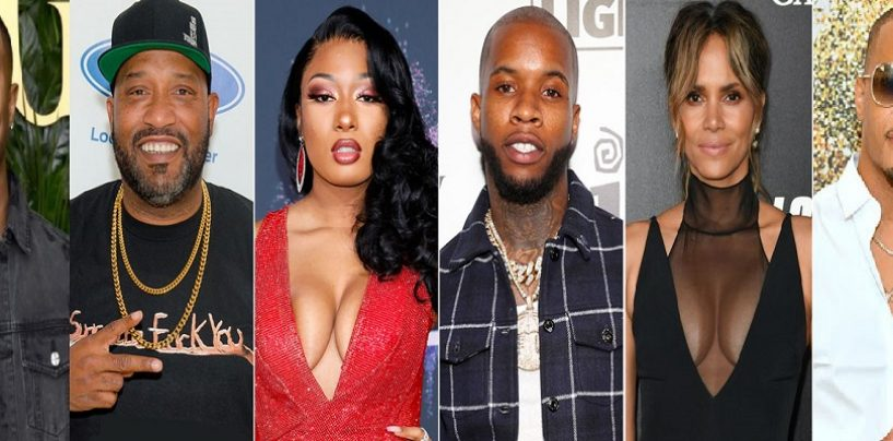 Rappers T.I. & Bun B, Halle Berry, Michael B Jordan & More Defend Megan Thee Male Horse & Condemn Torey Lanez For Shooting Her! (Live Broadcast)