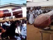 Black People Bury Their Loved One In A Penis Shaped Coffin! You Have To See This! (Video)
