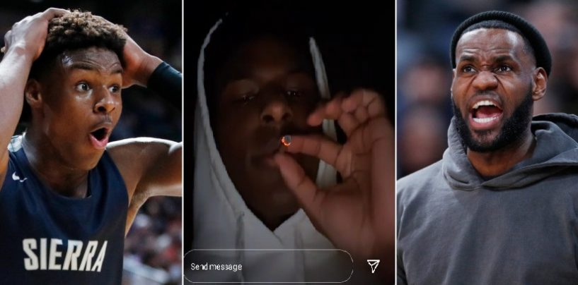 Lebron James Son 'Bronny Jr' Caught Smoking Weed On IG At 15 Years Old! (Live Broadcast)