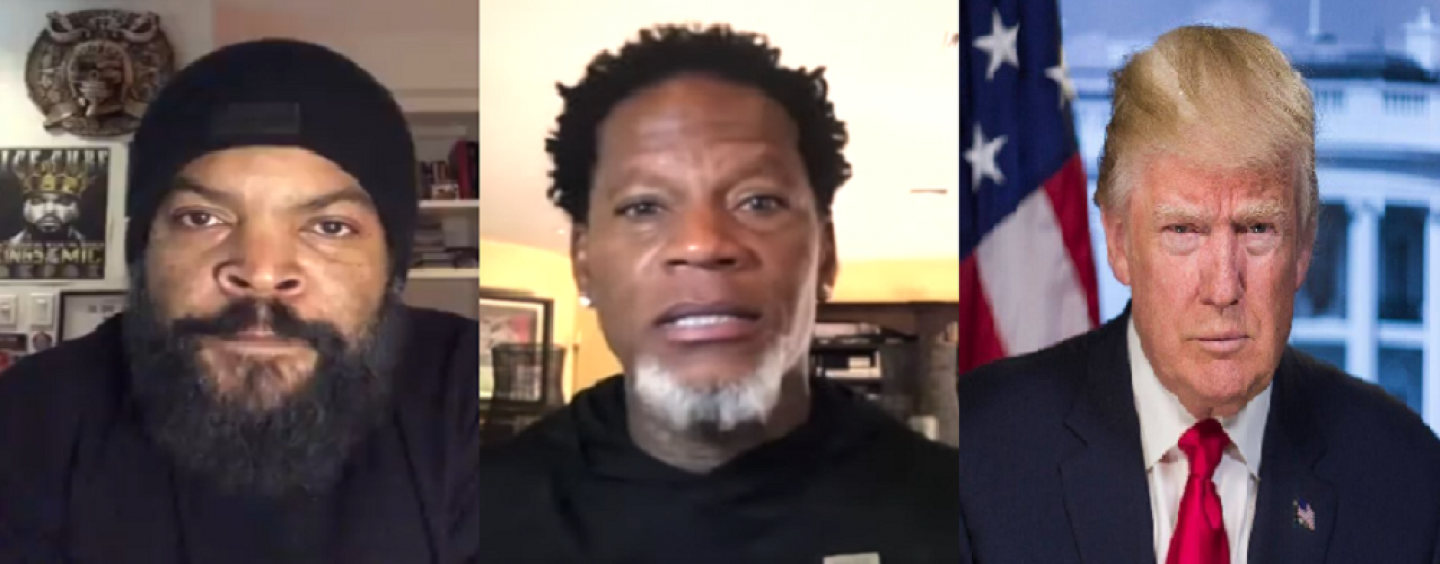 """Perpetual Lame DL Fooley Calls Ice Cube """"Unqualified"""" Over Trump Support & Ice Cube Fires Back! (Live Broadcast)"""