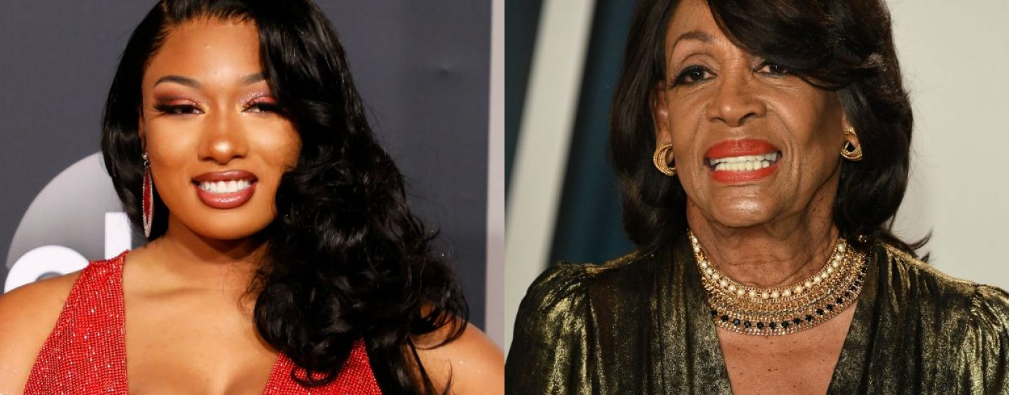 Rep. Maxine Waters Tells Megan Thee Stallion How The Song 'WAP' Is Genius & Empowers Black Women! (Live Broadcast)
