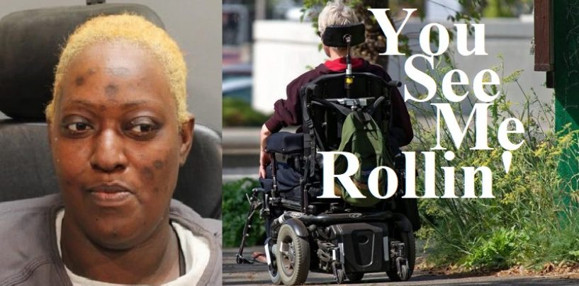 Black Woman Robs A Bank In Jacksonville FL In An Electric Wheelchair! #ApexLosers (Video)