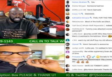 Kevin Samuels Calls Tommy Sotomayor To Tell Him That He Binge Watches His Show & Keep Up The Good Work! (Video)