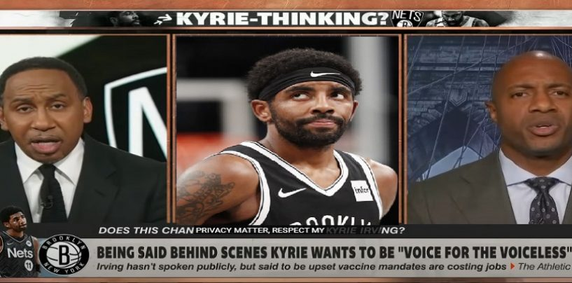 Stephen A Smith Disrespects Jay Williams Live On Air Over Kyrie Irving Not Getting Vaccinated! (Live Broadcast)
